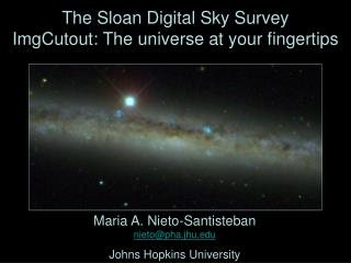 The Sloan Digital Sky Survey ImgCutout: The universe at your ...