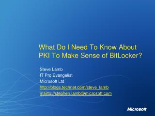 What do I need to know about PKI to make sense of Bitlocker