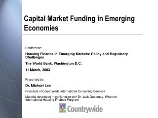 Capital Market Funding in Emerging Economies