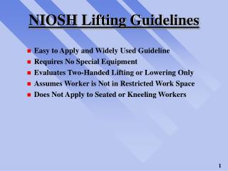 NIOSH Lifting Guidelines