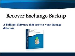 Recover Exchange Backup