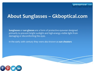 About Sunglasses - Gkboptical