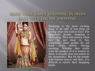 Make Your Saree Shopping In India Easy With Online Shopping