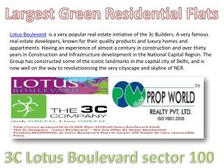 Lotus Boulevard 9910006454 Lotus Boulevard Noida 3c Lotus Bo