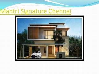 Mantri Signature Villas ECR Road chennai