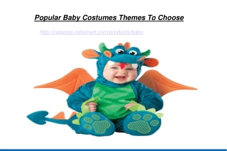 Popular Baby Costumes Themes To Choose