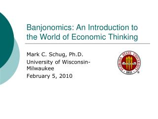 Banjonomics: An Introduction to the World of Economic Thinking