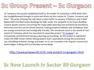 3c gurgaon 9910002540 3c new project in Gurgaon 3c new launc