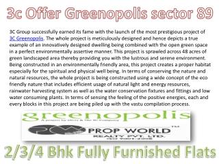 3c Greenopolis 9910002540 3c Greenopolis Gurgaon 3c Greenopo
