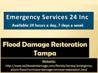 Flood Damage Restoration Tampa