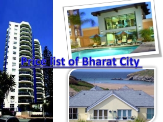 payment plan of Bharat City.