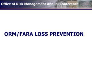 ORMFARA LOSS PREVENTION