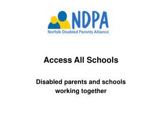 access all schoolsdisabled parents and schools working together