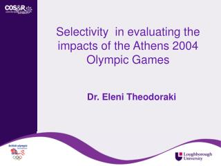 Selectivity in evaluating the impacts of the Athens 2004 Olympic ...