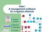 Ador:  A management software  for irrigation districts