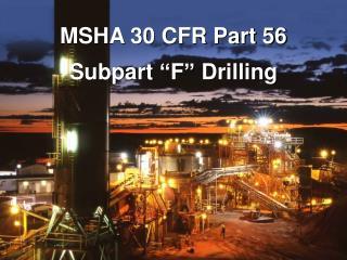 MSHA 30 CFR Part 56