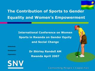 The Contribution of Sports to Gender Equality and Women