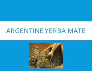 Argentine Yerba Mate