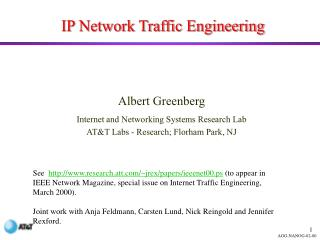 IP Network Traffic Engineering