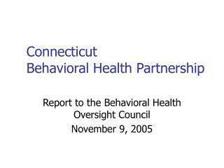 Connecticut Behavioral Health Partnership