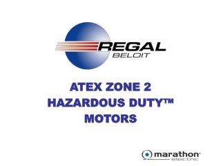 ATEX ZONE 2 HAZARDOUS DUTY  MOTORS
