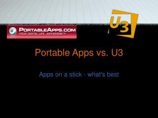 Portable Apps vs. U3