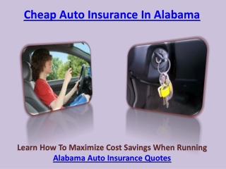 Cheap Auto Insurance In Alabama
