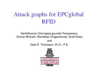 Attack graphs for EPCglobal RFID