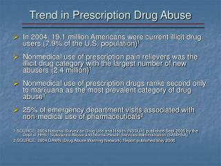 trend in prescription drug abuse