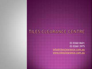 Sunrise Tiles Clearance Centre Australia