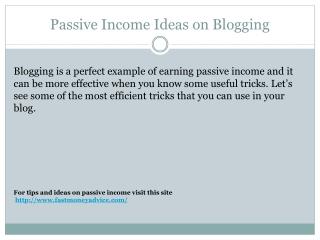 forms of passive income