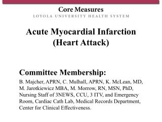 Acute Myocardial Infarction Heart Attack