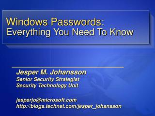 Windows Passwords: Everything You Need To Know