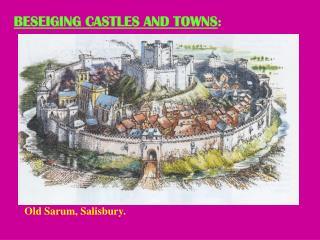 Castles Siege Warfare Power point.