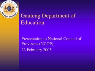 Gauteng Department of Education