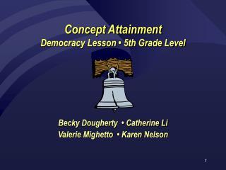 Concept Attainment Democracy Lesson   5th Grade Level