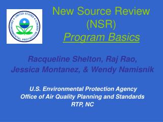 New Source Review NSR  Program Basics