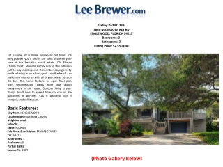 Lee Brewer Manatee County Real Estate  Sarasota Foreclosure