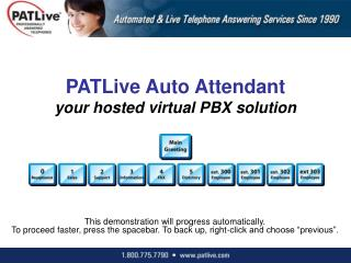 PATLive Auto Attendant your hosted virtual PBX solution