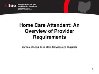 Home Care Attendant: An Overview of Provider Requirements