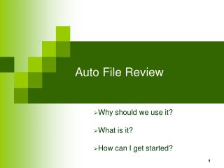 Auto File Review