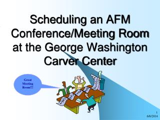 Scheduling an AFM Conference