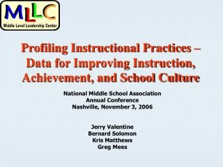 Profiling Instructional Practices