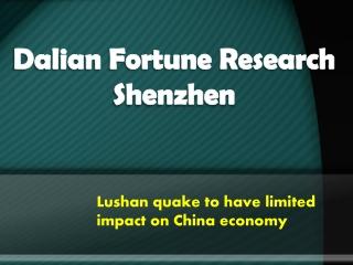 Lushan quake to have limited impact on China economy-bbpress