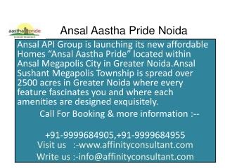 Ansal API Aastha Pride Greater Noida