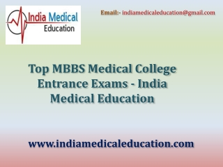 Top MBBS Medical College Entrance Exams