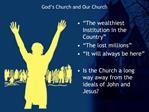 God s Church and Our Church