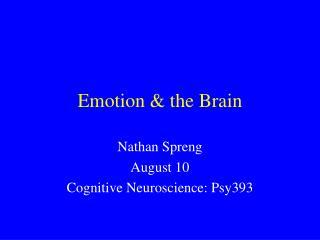 Emotion  the Brain