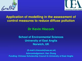 Application of modelling in the assessment of control measures to reduce diffuse pollution