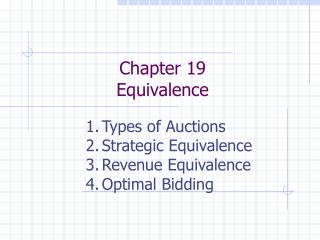 Chapter 19 Equivalence